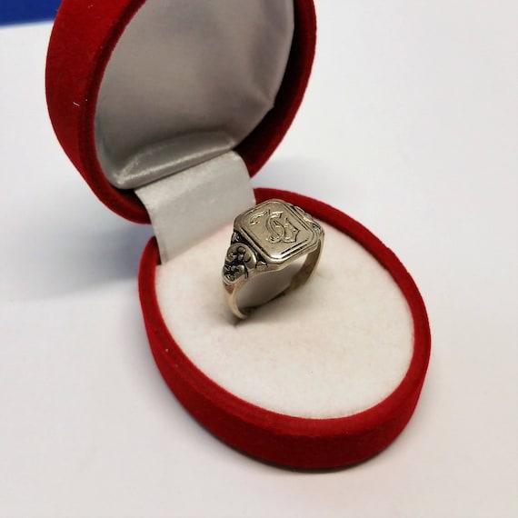 Ähnliche Artikel wie 20,3 mm Siegelring 900 Silber Initialen