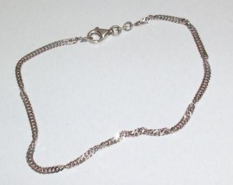 Bracelet cord/link bracelet in 925 Silver twisted design SA150