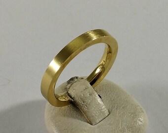 17.5 mm Ring Silver 925 Gold Gold SR194