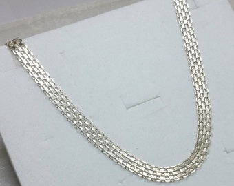 Link chain necklace 925 Silver necklace silver chain HK110