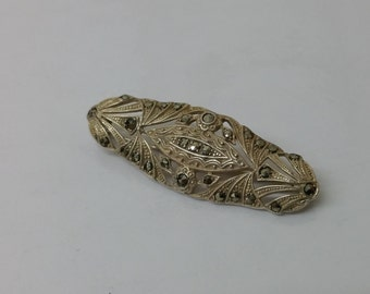 Art Nouveau brooch with Markasiten SB228