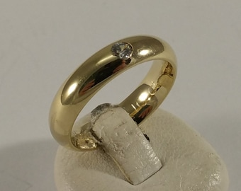 17 mm Ring Silver 925 gold plated crystal SR136