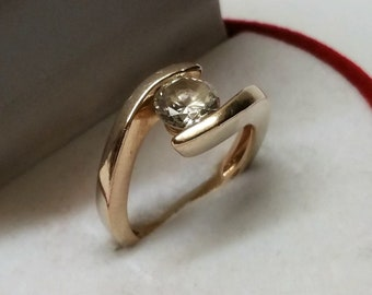 17.9 m ring silver 925 gold plated crystal SR1032