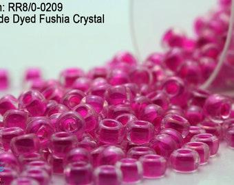 Fuschia Wood Striped Beads 10mm 16 Beads