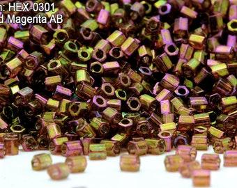 Miyuki Hexagon 2 Cut 11//0 Metallic Bronze Hex-0457