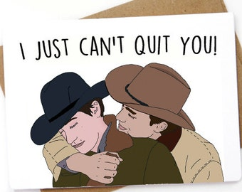 Brokeback mountain love card. I Just can't quit you. Funny Best Man Card, Funny Groomsman card, Groomsman proposal, best man proposal card