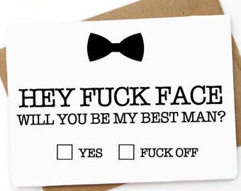 Funny Will You Be My  Best Man, Groomsman, Usher, Wedding Party, groomsman proposal, best man proposal, Don't be a bitch be my usher