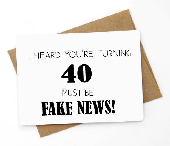 Funny 40th Birthday Card Funny Greeting Card Birthday Card Etsy