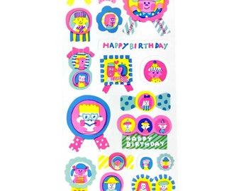 Happy & Bright Birthday Sticker Sheets