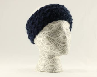 Blue Ombre Ear Warmers,  Wool Earwarmer, Crocheted Earwarmer, Blue Crocheted Winter Earwarmer