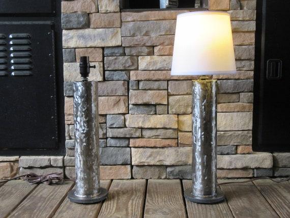 Steel Lamps Metal Lights Lamp Set Welded Art Scrap Metal Home Etsy