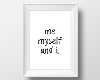 Me Myself And I Etsy