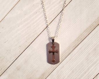 Cross necklace men or women