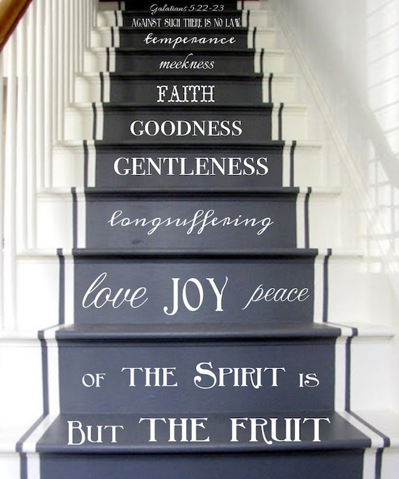 Vinyl Decal Fruit Of The Spirit Stair Decals Galatians 5:22 23 | Etsy