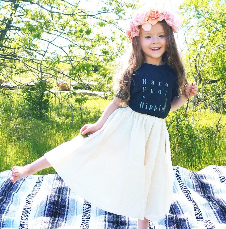 a05385ffb4a Bare Foot and Hippie Baby Boy Girl Tshirt Toddler TShirts