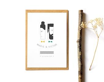 Mr & Mrs wedding invitation