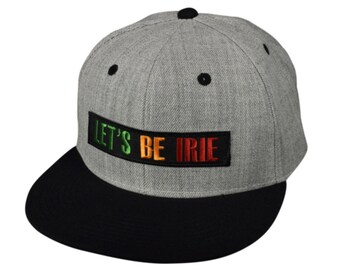3e829376 LET'S BE IRIE - Heather Gray SnapBack Hat