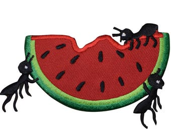 Watermelon with Ants Patch Applique (Iron on)