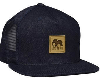 c24d89a9 LET'S BE IRIE Elephant Trucker Hat - Blue Denim Snapback