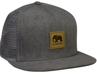 307d799b LET'S BE IRIE Elephant Trucker Hat - Gray Denim Snapback