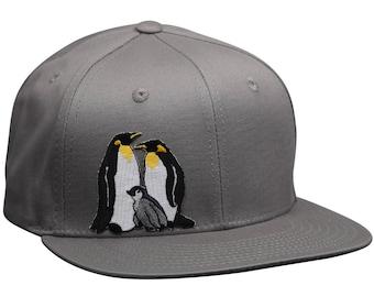 16e728672130e Penguin Snapback Hat - Gray Cotton