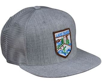 5d26ca126bb Lake Tahoe Trucker Hat by LET S BE IRIE - Heather Gray Snapback