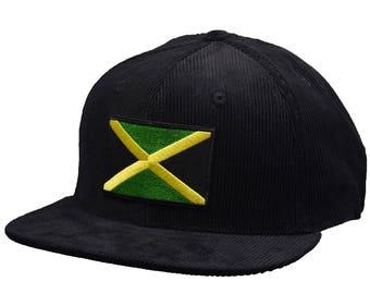 6d10e878e1f Jamaica Corduroy Hat by LET S BE IRIE - Black Snapback