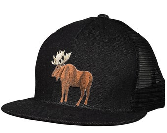 205dbe0c4c0 Moose Trucker Hat - Black Denim