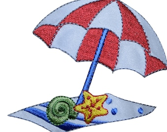 Black Ant Iron on Applique//Embroidered Patch Beach Chair//Umbrella//Book//Ball