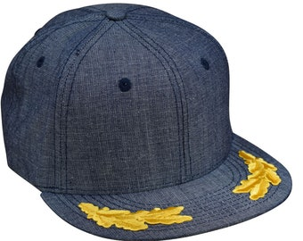 e152bab769aae Captain Snapback Hat by LET S BE IRIE - Washed Blue Denim