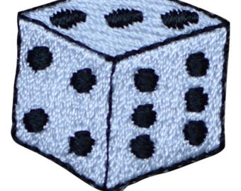 Gambling Dice Patch Applique (Iron on)