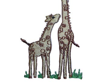 Mom and Baby Giraffe Applique Patch (Iron on)