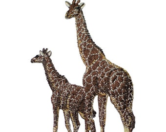 Giraffe and Calf Applique Patch (Iron on)