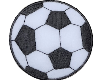 SOCCER BALL EMBROIDERED CHENILLE IRON ON PATCH SOCCER 2 1//4/""