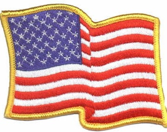 American Flag,US Flag White Border Embroidery Iron On Patch-Small 283