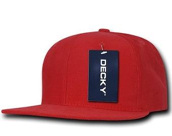 c177da1a2e417 Corduroy Snapback Hat - Red