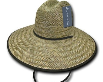ae88bdbe48b2d Mat Straw Lifeguard Hat - Natural