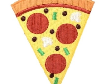IN CHEESE WE CRUST PIZZA BRIGADE Pizza DIY Sew Iron on Embroidery Applique Patch