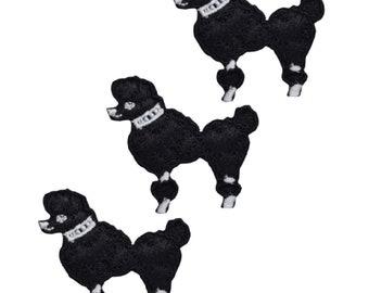 2 x Poodle Mini Iron On Patch Applique  Measures 1 14 across x 1 12 high