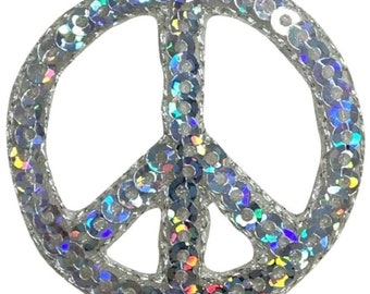 """Iron on Rainbow World Peace Peace Sign Applique Patch Hippie Badge 2/"""""""