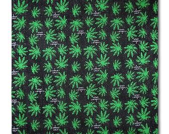 "Weed Bandanna Cannabis Marijuana Face Covering Scarf Headband Bandana Cotton 22/"""