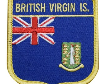 US VIRGIN ISLANDS FLAG PATCH St John Thomas Croix USVI w// VELCRO® Brand Fastener