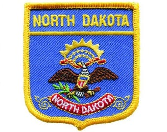 US NORTH DAKOTA STATE PEACE GARDEN STATE MAP EMBROIDERED PATCH 3 INCHES