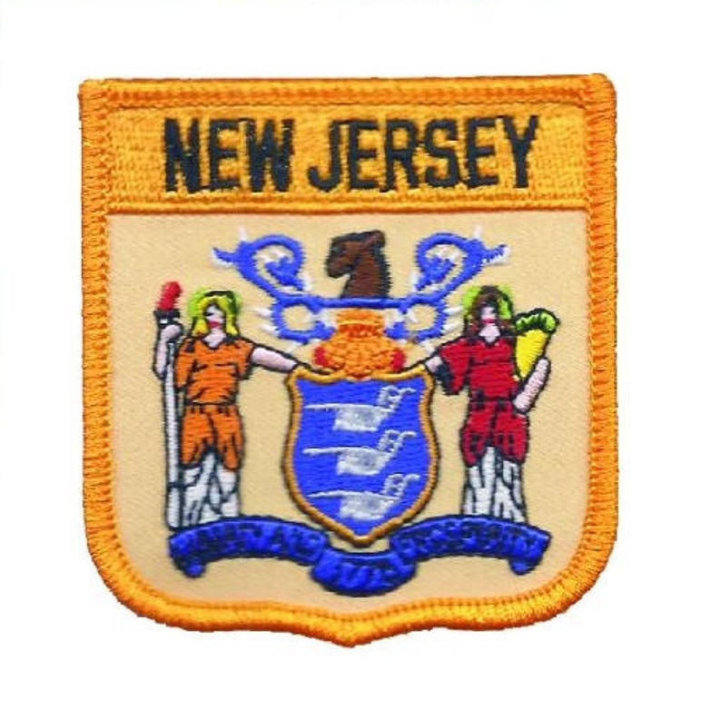 new jersey iron on patch
