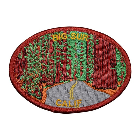"Pacific Ocean 3.5/"" Big Sur California Patch CA Redwoods Iron on"