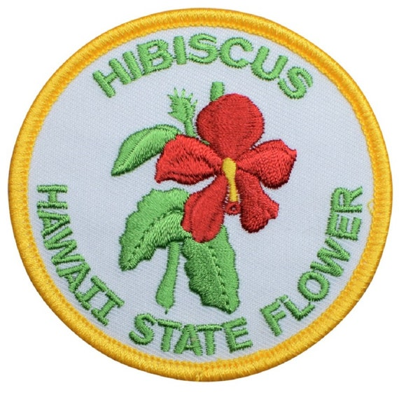 Hibiscus Hawaii State Flower Patch Iron on or sew on