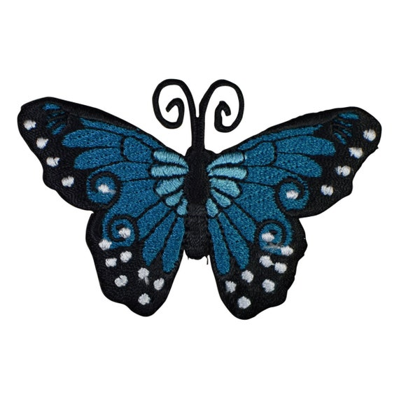 "Butterfly Applique Patch Antennae 3.5/"" Insect Iron on Wings"