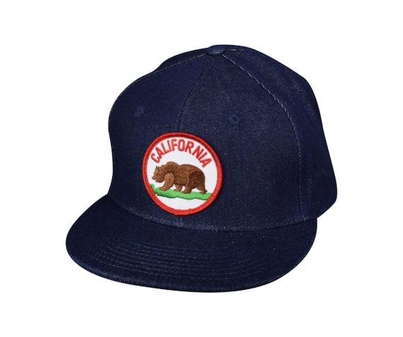 a140c4b5383de California Bear Blue Denim Snapback Hat by LET S BE IRIE