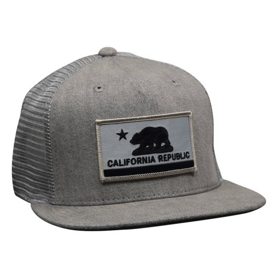 California Republic Trucker Hat by LET/'S BE IRIE Black and Gold