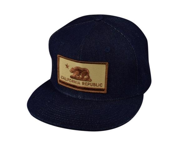 dfd71c62dacf6 California Republic Blue Denim SnapBack Hat by LET S BE